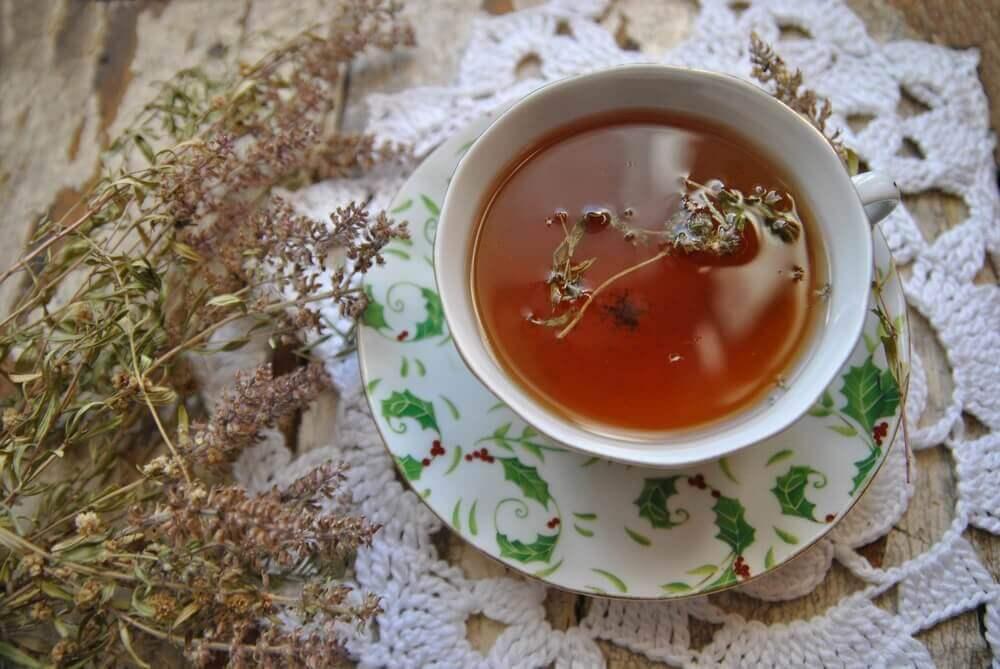 timjamista valmistettua teetä