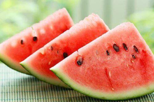 juomat painonpudotukseen: vesimeloni