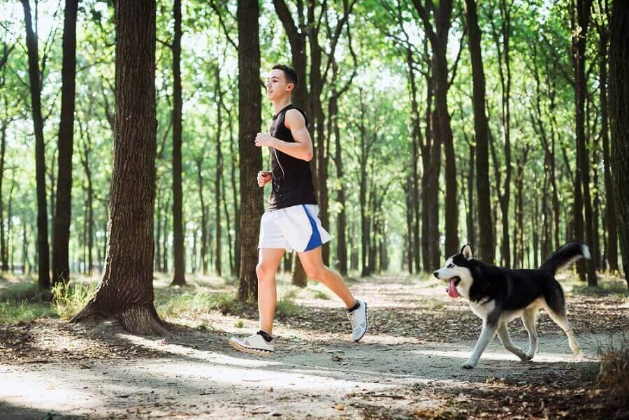 kiinteytä reidet lenkkeilemällä koiran kanssa