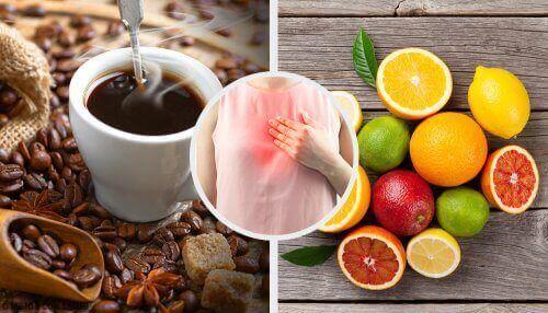luontaishoidot refluksiin: vältä kahvia ja sitrushedelmiä
