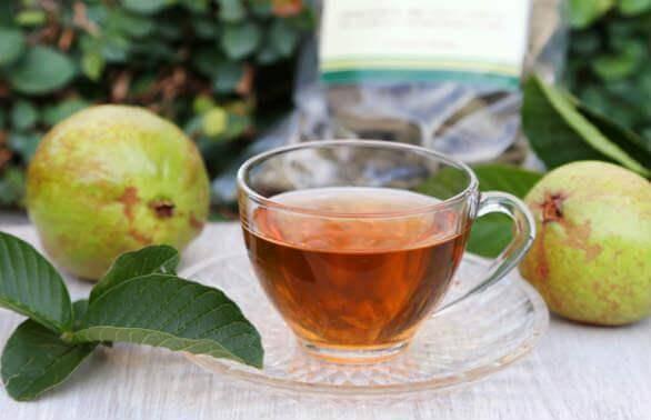 guavan lehdistä valmistettu tee