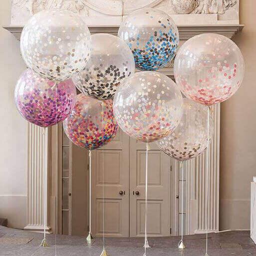 konfettia ilmapalloissa