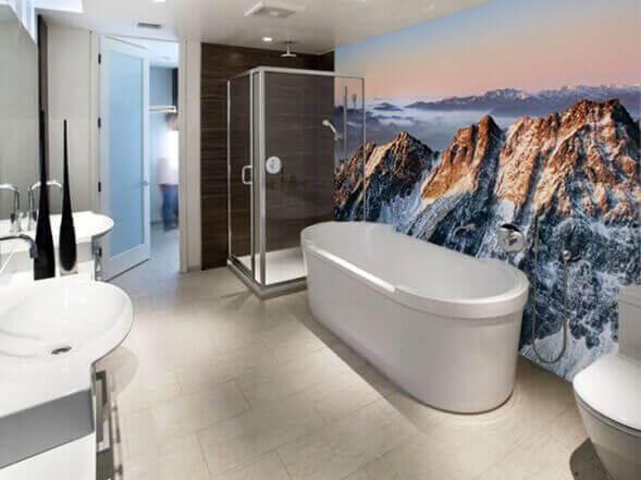 minimalistinen kylpyhuone