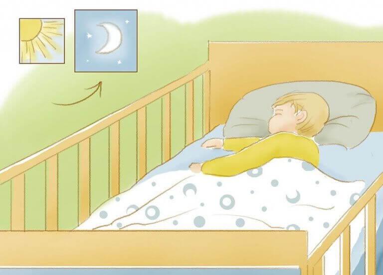 Opeta lapsesi nukkumaan läpi koko yön