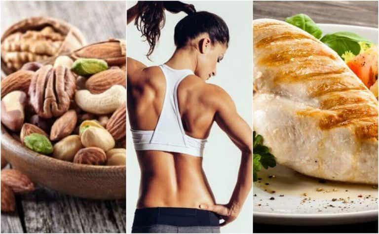 Tehokas ruokavalio lihasten kiinteyttämiseksi