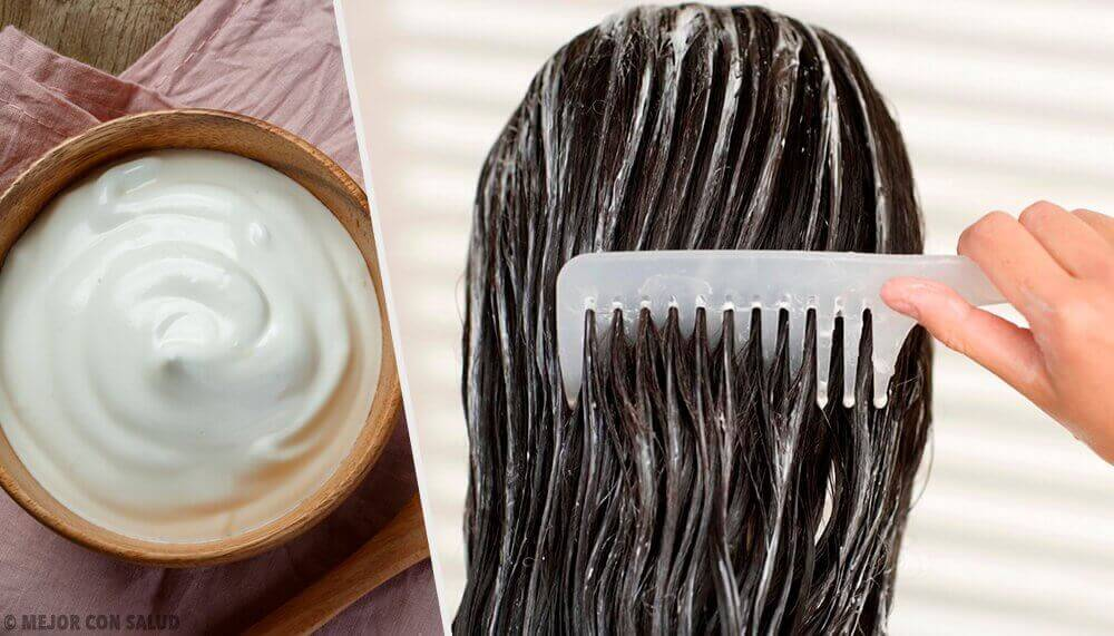 Saat vahvemmat hiukset majoneesinaamion avulla.