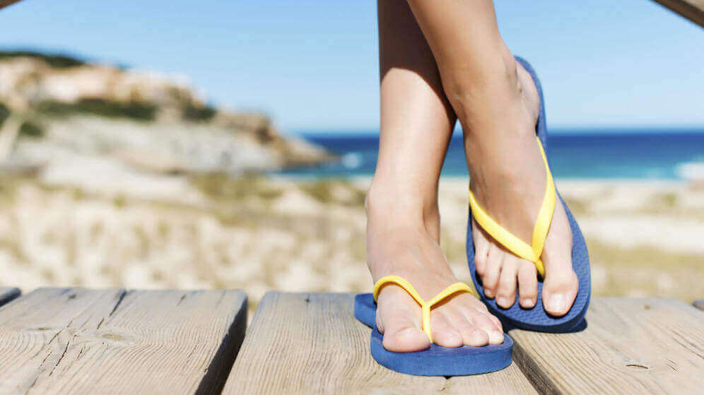 Varvassandaalien aiheuttamat jalkaongelmat