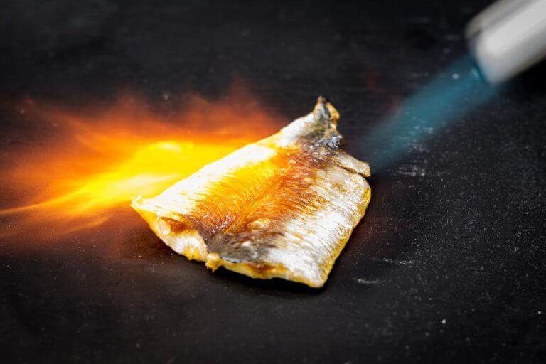kalan kypsennys kaasupolttimella