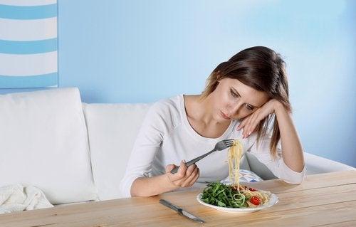 ruokahaluttomuus ja masennuksen merkit