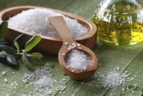 merisuolaa ja oliiviöljyä