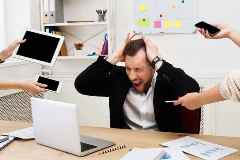 stressin negatiiviset vaikutukset: sekoaminen