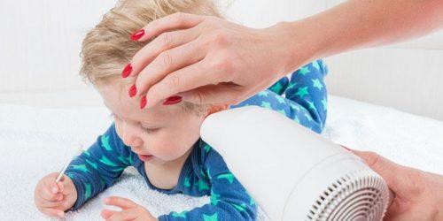 vauvalta vesi pois korvasta hiustenkuivaajalla