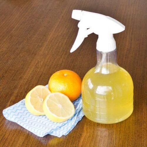 lasinpuhdistusaine appelsiinista