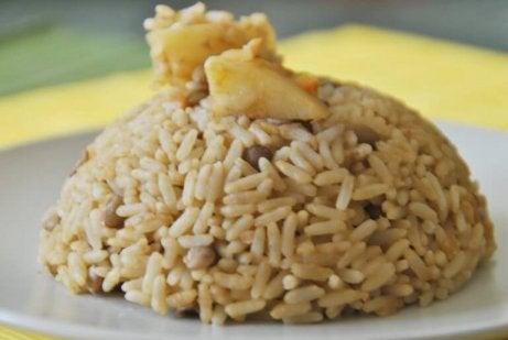 Opi yhdistämään ruokia - linssit ja riisit.