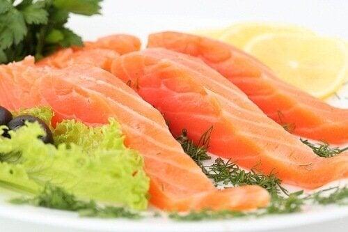 välty flunssalta syömällä kalaa