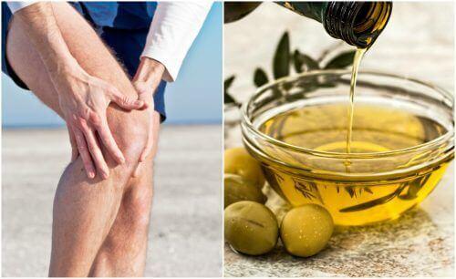 Hoida nivelkipua oliiviöljyllä ja sitruunankuorella