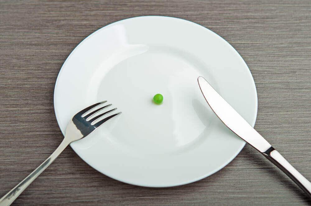 ruokavirhe on liian niukka dieetti