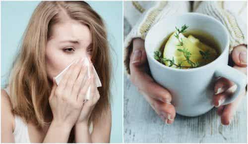 Yskän hoito timjami-, hunaja- ja sitruunateellä