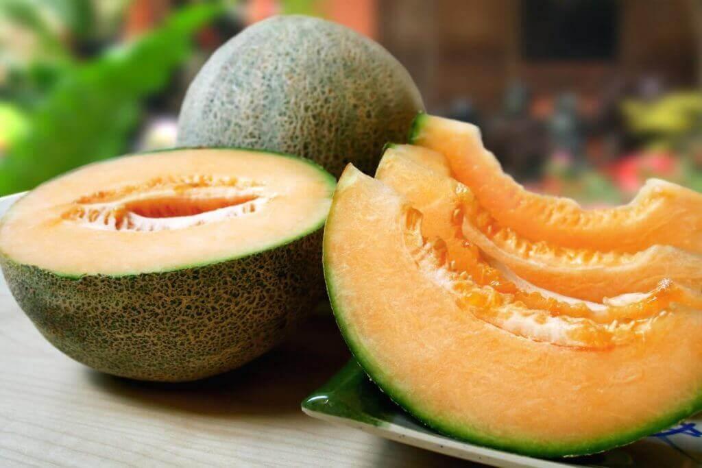 cantaloupe-meloni on kaliumpitoista ruokaa
