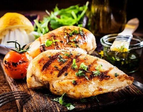kana on kaliumpitoista ruokaa