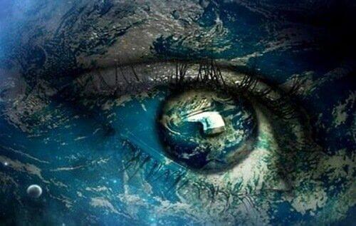 silmässä maailma