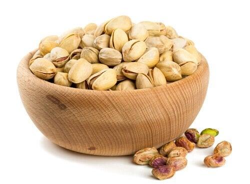 pistaasipähkinät ovat kaliumpitoista ruokaa