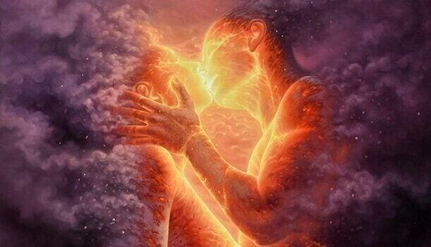 sielunkumppani ja suudelma
