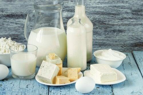 Ruokavalio painon pudottamiseen: maitotuotteet