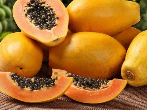 papaijaa herkälle vatsalle