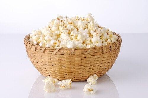 Popcorn on laihdutukseen sopiva välipala