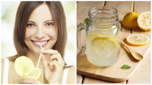 Sitruunaa voi lisätä veteen