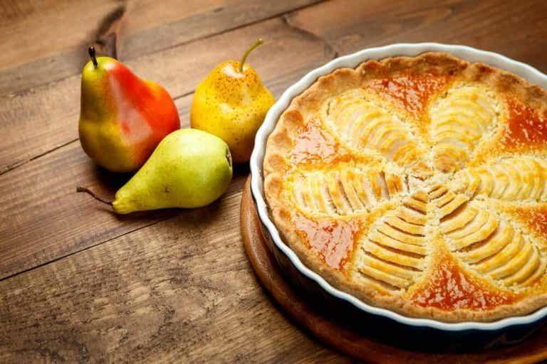 Päärynäpiirakka on terveellinen jälkiruoka