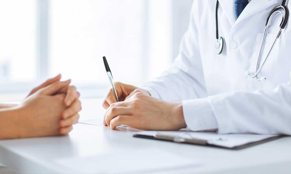potilas ja lääkäri