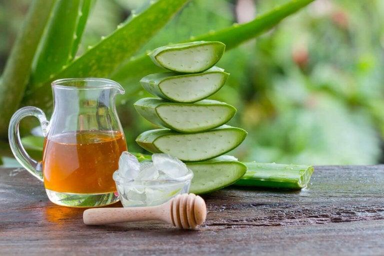 Vatsaongelmien hoitaminen aloe veralla ja hunajalla