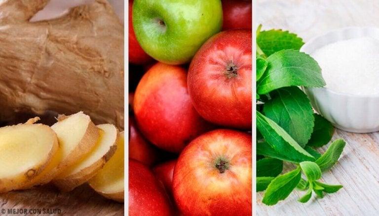 Inkivääri-stevia-omenajuoma kompensoi ylensyöntiä