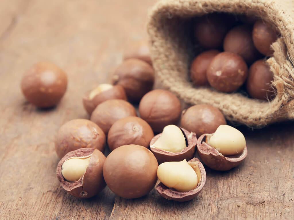 makadamiapähkinät sisältävät terveellistä rasvaa
