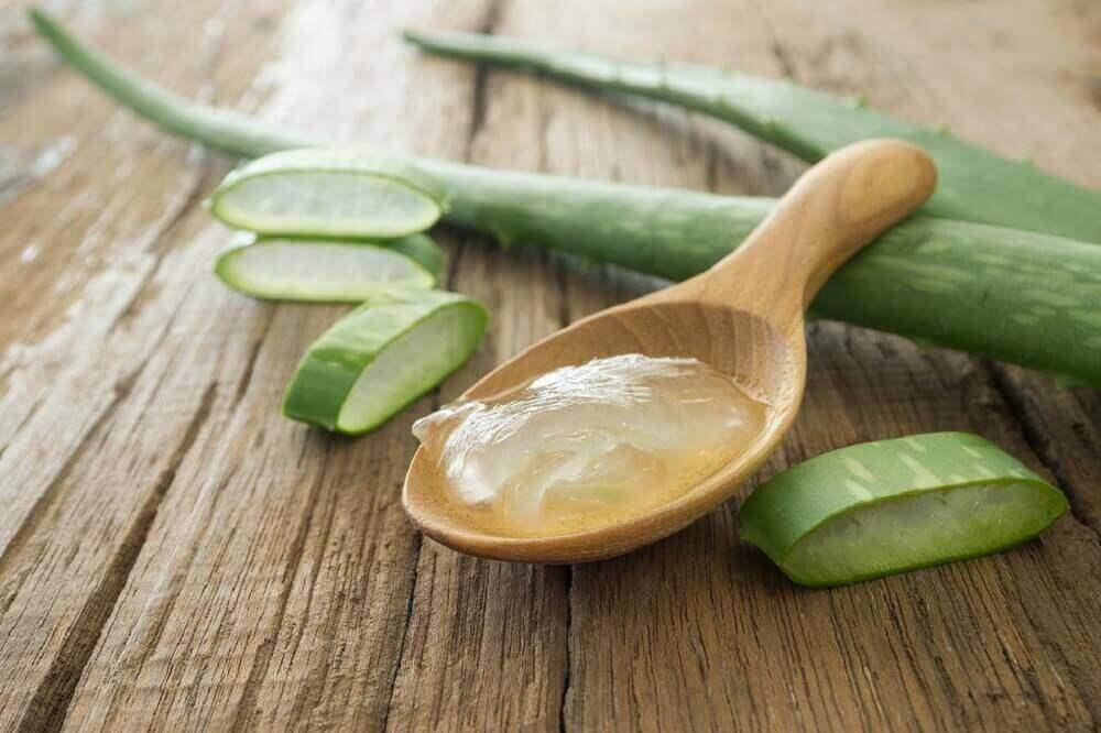 Aloe vera -geeli kosteuttaa ihoa