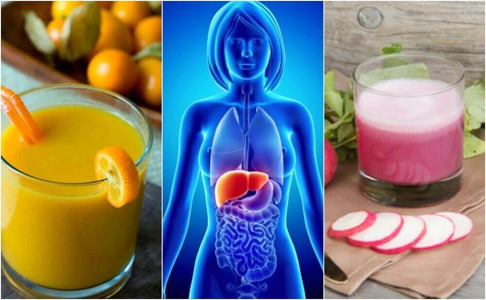 Terveellisiä juomia rasvamaksaan