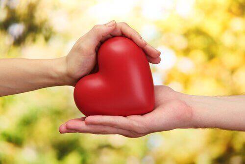 sydän vaihtaa kättä