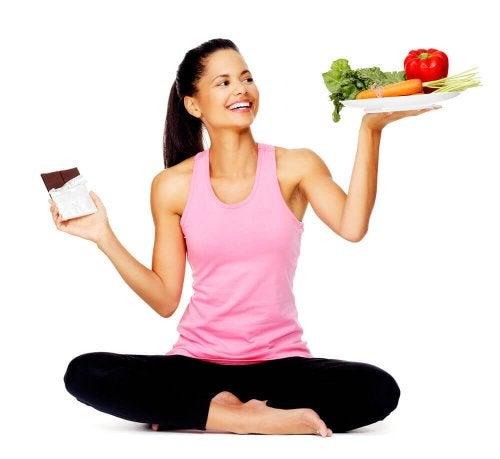 tasapainoisella ruokavaliolla terve paino