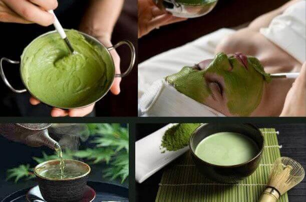 hoida iho-ongelmia vihreällä teellä