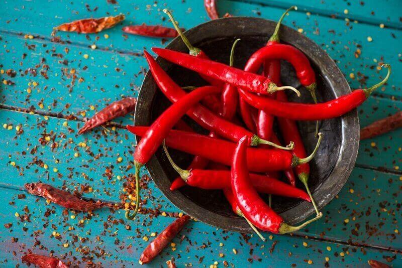 chiliä nälän tyydyttämiseksi