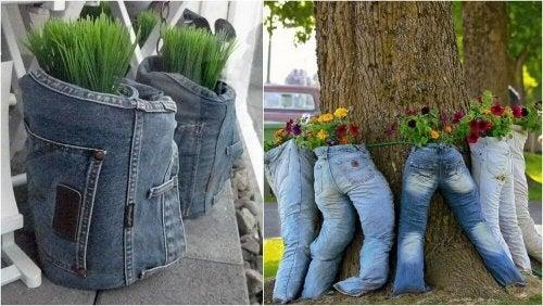 Ekologiset kukkaruukut sopivat puutarhaan kuin puutarhaan