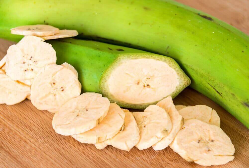 vihreä banaani
