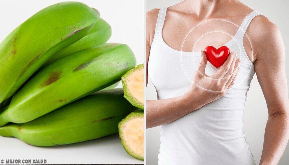 Vihreä banaani hoitaa terveyttä tehokkaasti