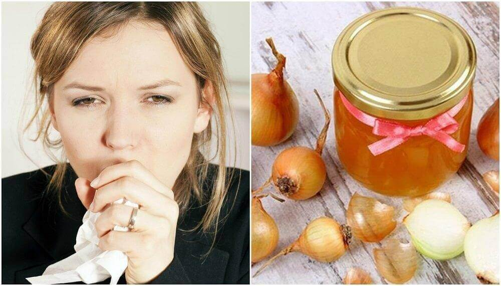 Yskää rauhoittava lääkevalmiste hunajasta ja sipulista