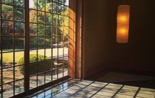 Japanilaisessa huoneessa luonto on aina lähellä.