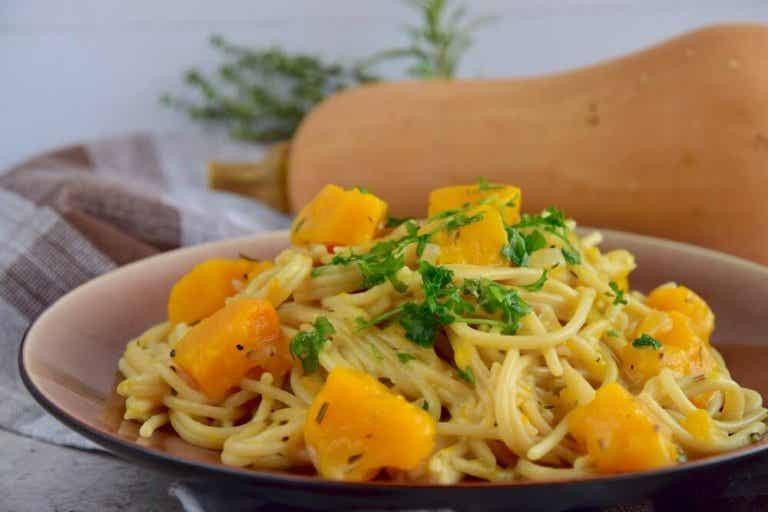 2 herkullista pastareseptiä spagetista ja kurpitsasta