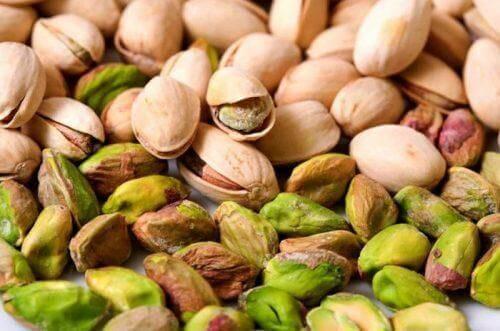 Pistaasipähkinöissä on paljon rautaa