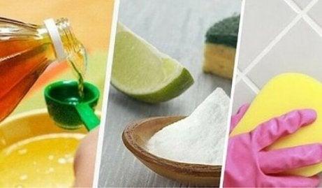 Laattalattian pesu luonnollisilla tuotteilla